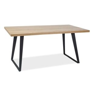 Stůl FALCONE masivní dub/černý 150x90