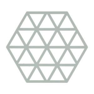 Světle šedá silikonová podložka pod horké nádoby Zone Triangles