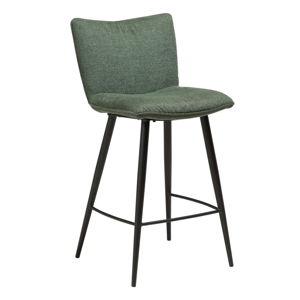 Zelená jídelní židle s ocelovými nohami DAN-FORM Join