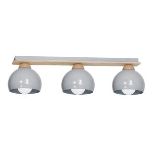 Šedé stropní svítidlo s dřevěnými detaily Dama Tres