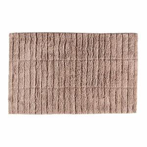 Růžová bavlněná koupelnová předložka Zone Tiles,80x50cm