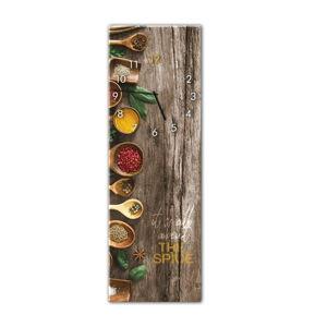 Nástěnné hodiny Styler Glassclock Spice, 20 x 60 cm