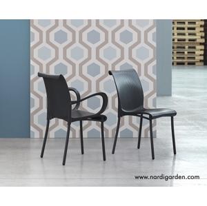 Židle REGINA: grafitový antracitový hliník