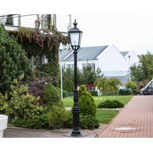 Hliníková stojanová zahradní lampa GJOVIK: bílá ral 9010