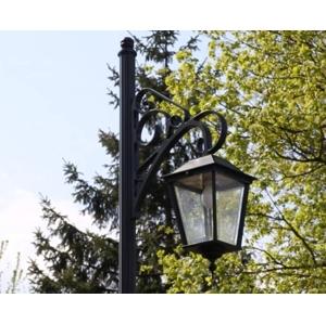 Hliníková zahradní lucerna OSLO: šedá ral 7024