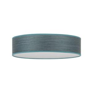 Modrošedé stropní svítidlo se stínidlem z přírodní dýhy Bulb Attack Ocho, ⌀ 40 cm
