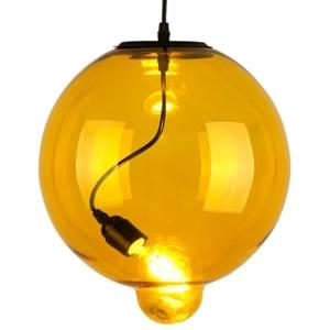 Lampa závěsná MODERN GLASS bubble žlutá