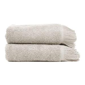 Sada 2 šedohnědých ručníků ze 100% bavlny Bonami, 50x90 cm