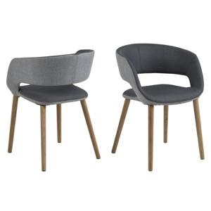 Židle GRACE světle/tmavě šedá