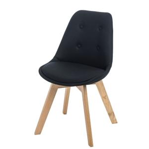 Židle NORDEN CROSS polstrování černé 1727