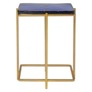 Odkládací stolek ve zlaté barvě Kare Design Lagoon, výška 50cm