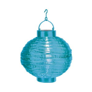 Modrý venkovní solární LED lampion BestSeason Summer, ø30cm