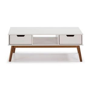Bílý konferenční stolek z masivního borovicového dřeva Marckeric Baku