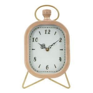 Růžové stolní hodiny s detaily ve zlaté barvě Mauro Ferretti Glam