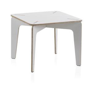 Bílý dětský stůl z překližky Geese Piper, 60 x 60 cm