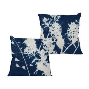 Povlak na polštář Linen Couture Blue Spots, 45 x 45 cm