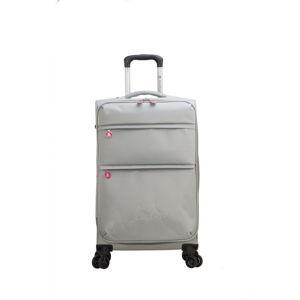Světle šedé zavazadlo na 4 kolečkách Lulucastagnette Luciana, 71l