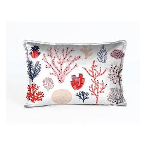 Barevný sametový polštář Velvet Atelier Plankton,50x35cm