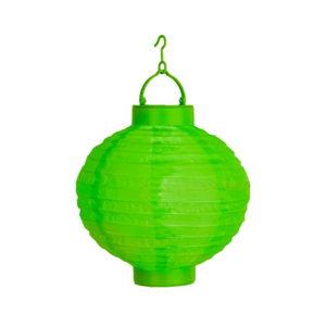 Zelený venkovní solární LED lampion BestSeason Summer, ø30cm
