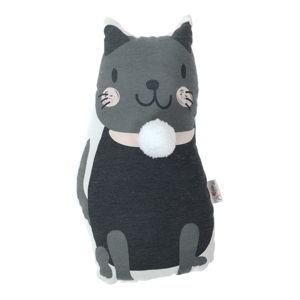 Dětský polštářek s příměsí bavlny Apolena Pillow Toy Black Cat, 17 x 34 cm
