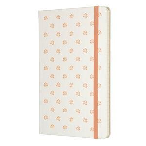 Bílý linkovaný zápisník v pevné vazbě Moleskine Beauty, 240stran