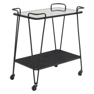 Kovový odkládací stolek nakolečkách Kare Design Mesh, výška 68cm