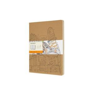 Hnědý linkovaný zápisník Moleskine Cahier, 192stran