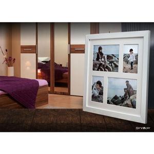 Bílý rámeček na 4 fotografie Styler Narvik, 39x39cm
