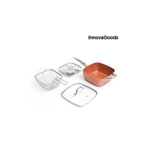 Set kermické pánve, košíku na smažení, napařovače a poklice InnovaGoods