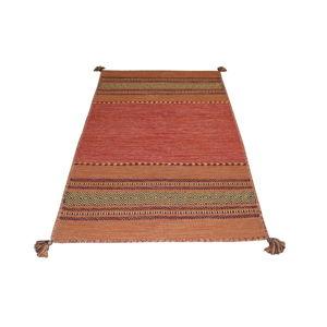 Oranžový bavlněný koberec Webtappeti Antique Kilim, 120 x 180 cm
