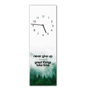 Nástěnné hodiny Styler Glassclock Great Things, 20 x 60 cm