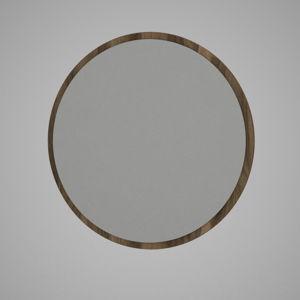 Kulaté nástěnné zrcadlo vhnědém rámu Glob, ⌀59cm