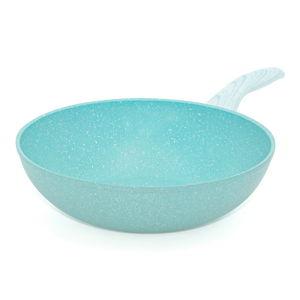 Modrá WOK pánev Bisetti Miss Gourmet,ø28cm
