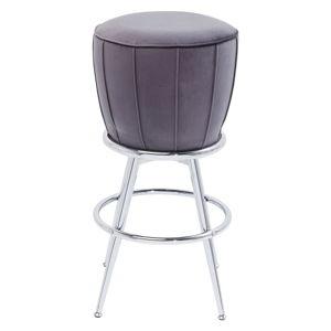 Šedá barová židle se sametovým čalouněním Kare Design After Work