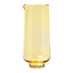 Žlutá skleněná karafa na vodu Blomus Flow,1,1l