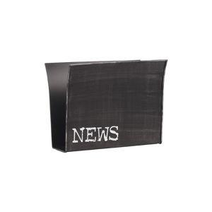 Černý kovový stojan na časopisy LABEL51