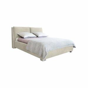 Béžová dvoulůžková postel Mazzini Beds Vicky, 180x200cm