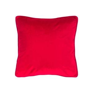Červený polštář Tiseco Home Studio Velvety, 45x45cm
