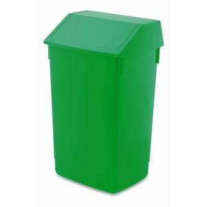 Zelený odpadkový koš s vyklápěcím víkem Addis, 41 x 33,5 x 68 cm