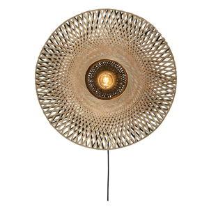 Nástěnné bambusové svítidlo Good&Mojo Kalimantan, ⌀60cm