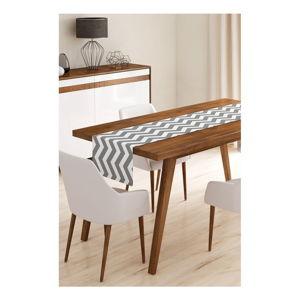 Běhoun na stůl z mikrovlákna Minimalist Cushion Covers Grey Stripes, 45x145cm