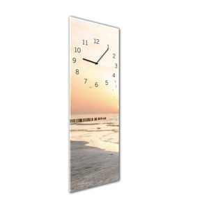 Nástěnné hodiny Styler Glassclock Beach, 20 x 60 cm