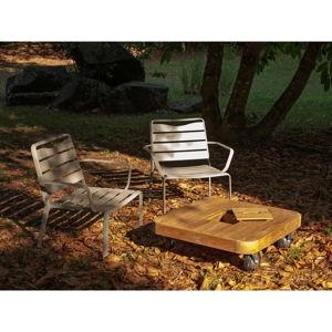 Set 2 zahradních křesel a stolku s deskou z teakového dřeva Ezeis Spring