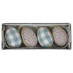 Sada 4 dekorativních velikonočních vajíček v boxu Ego Dekor, 19 x 5 cm