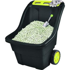 Černý zahradní odpadkový koš na kolečkách Keter Super, 150 l