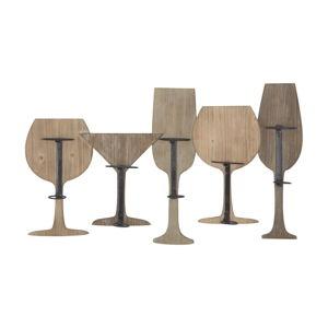 Nástěnný držák na 5 lahví vína Mauro Ferretti
