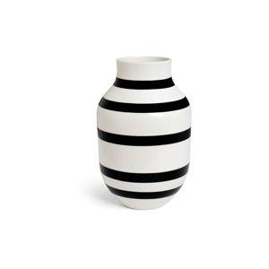 Černo-bílá kameninová váza Kähler Design Omaggio, výška 30,5 cm
